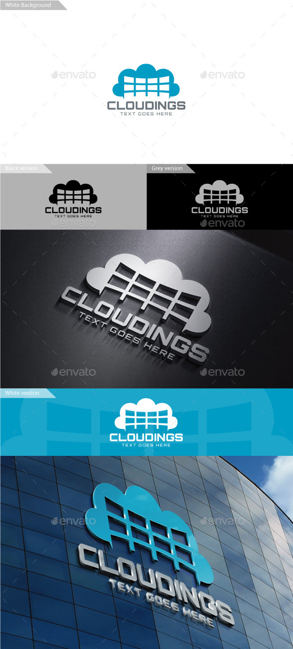 GraphicRiver Cloudings Logo 9987871