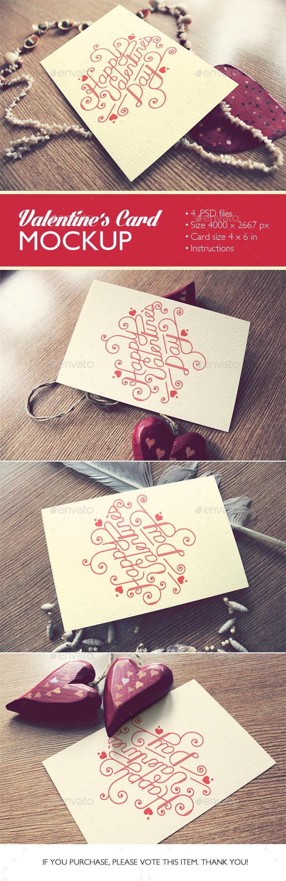 GraphicRiver Valentine s Card Mockup 9988188