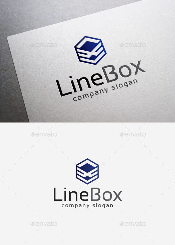 GraphicRiver Line Box Logo 9988228