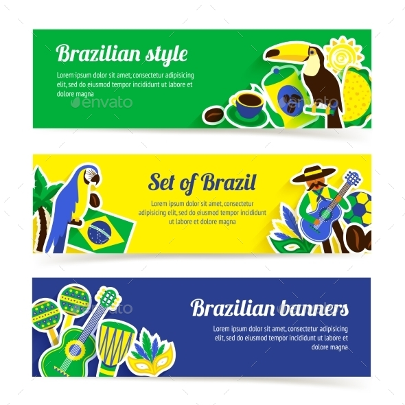 GraphicRiver Brazil Banner Set 9988271