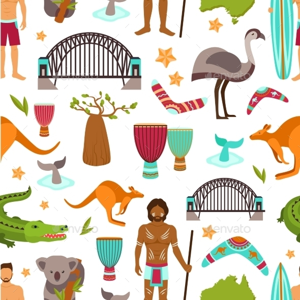 GraphicRiver Australia Seamless Pattern 9988274