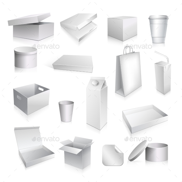 GraphicRiver Packaging Set Blank 9988398