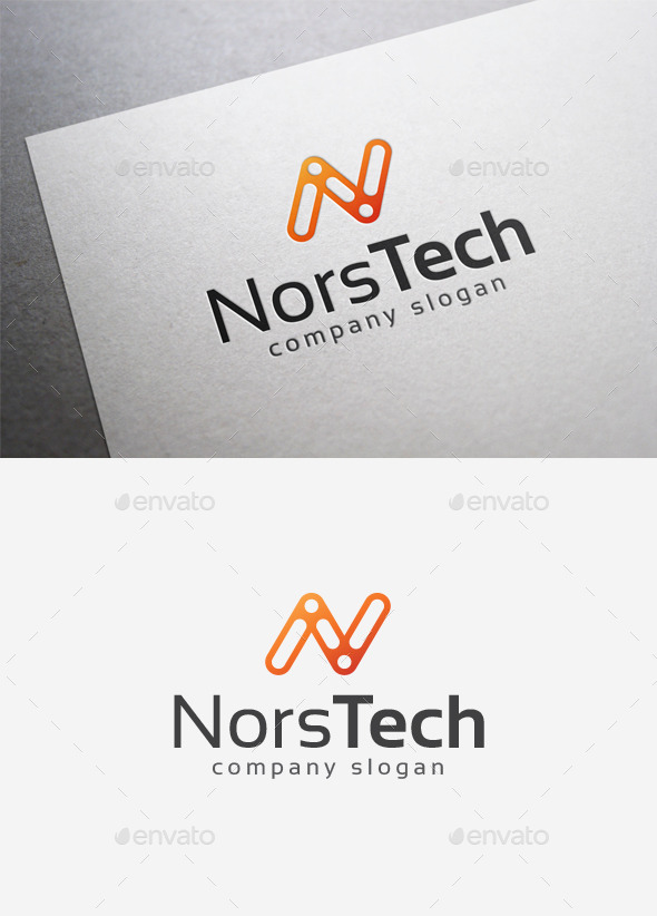 GraphicRiver Nors Tech Logo 9988485