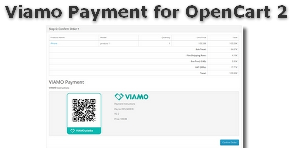 CodeCanyon Viamo Payment for OpenCart 2 9988502