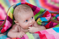 Cute Baby With Very Colorful Towel - PhotoDune Item for Sale