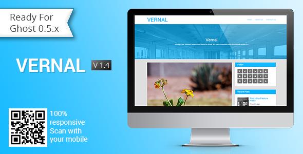 Vernal - Responsive Multipurpose Ghost Theme