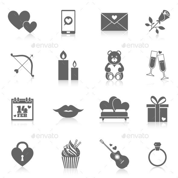 GraphicRiver Romantic Icon Set 9988614