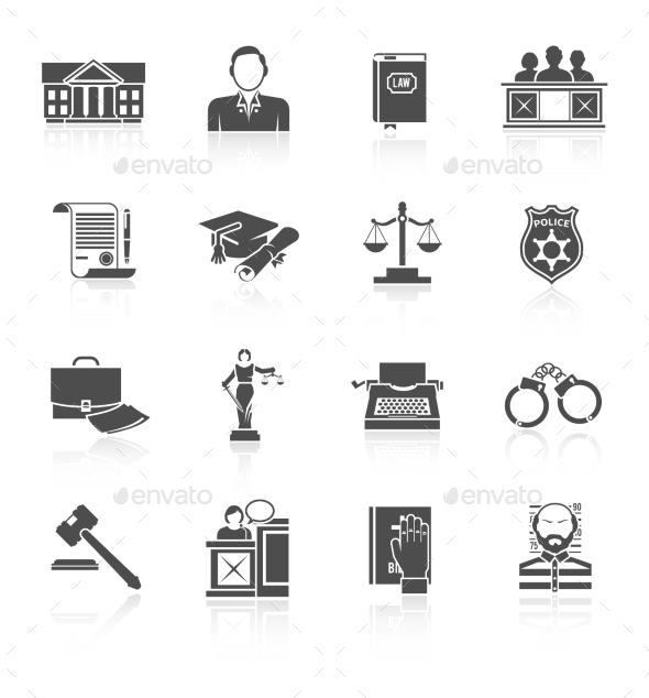GraphicRiver Law Icon Set 9988800