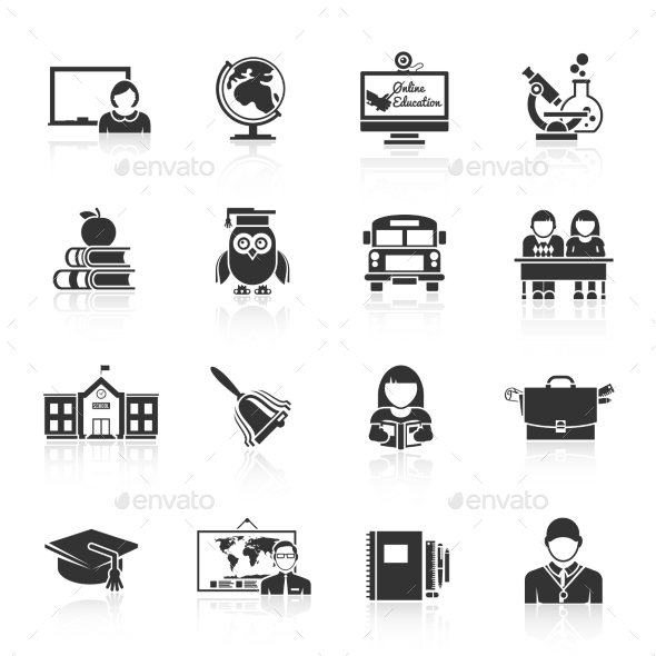 GraphicRiver School Icons 9988821