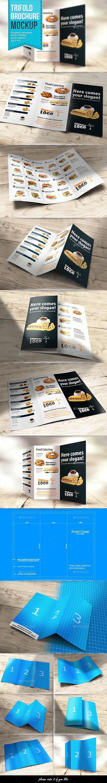 GraphicRiver Trifold Brochure Mockup 9989643
