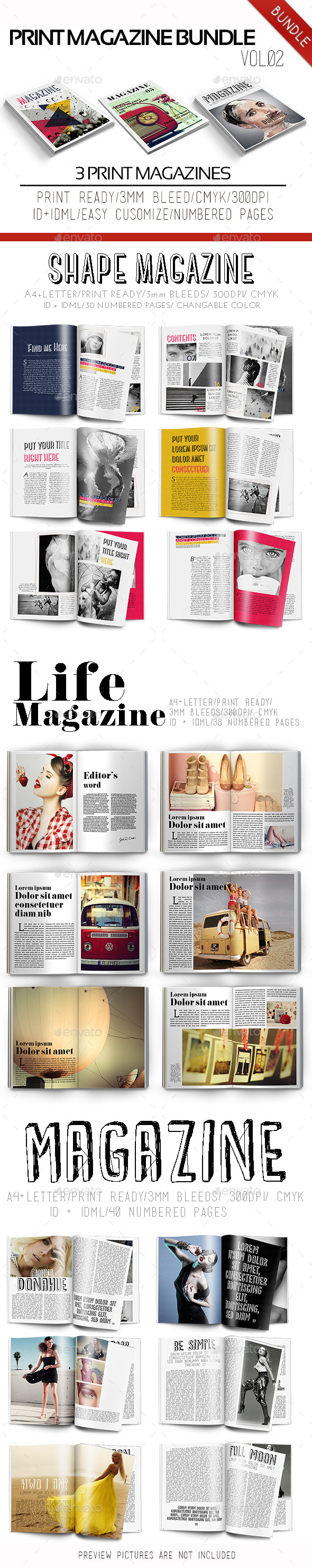 GraphicRiver Print Magazine Bundle Vol.02 9989691