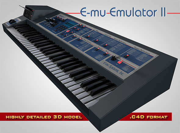 E-mu Emulator II - 3DOcean Item for Sale