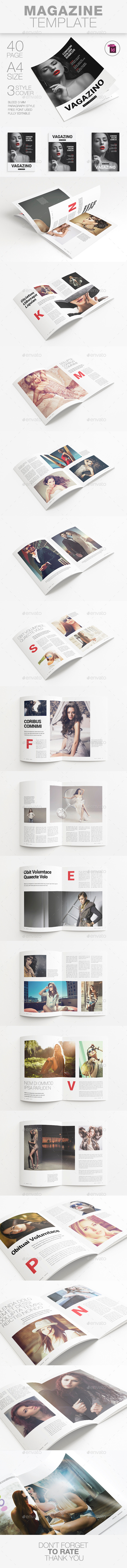 A4 Magazine Template