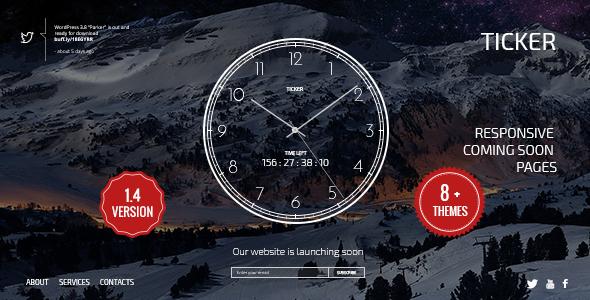 TICKER: Responsive Countdown Clock Landing Page