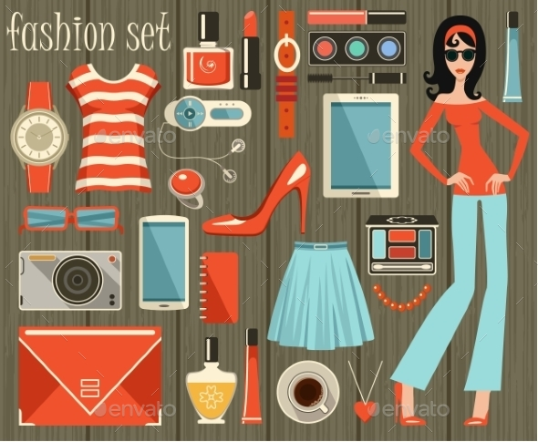GraphicRiver Fashion Set 9989791