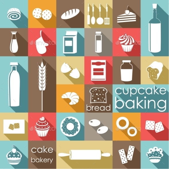 GraphicRiver Baking Flat Set 9989792