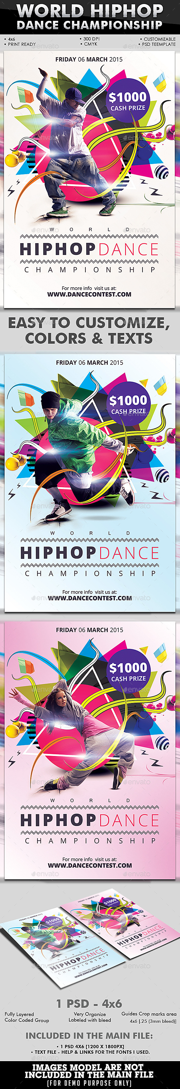GraphicRiver World Hiphop Dance Championship 9989859