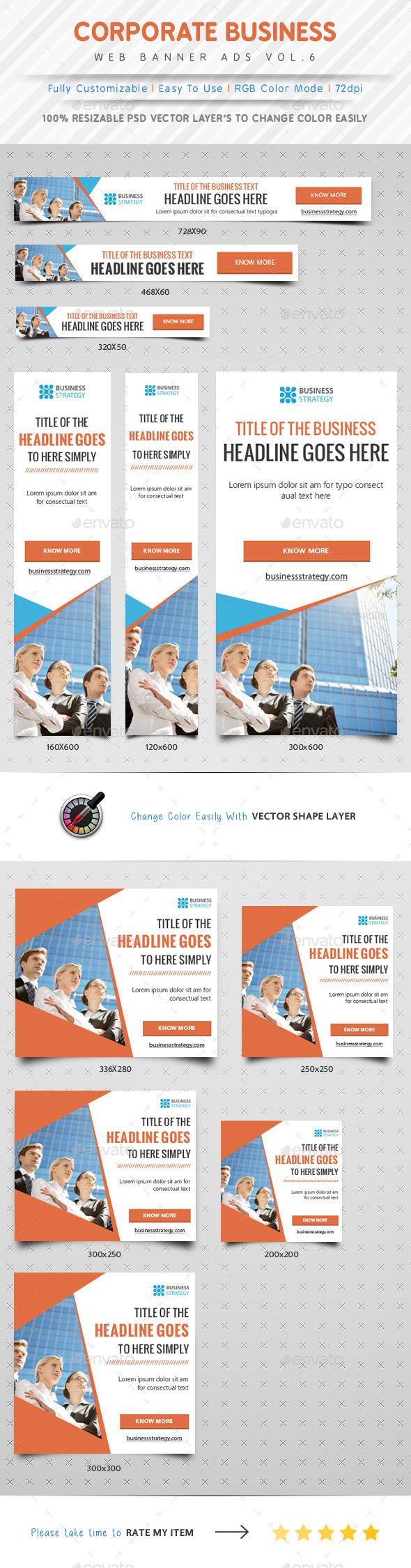 GraphicRiver Corporate Web Banner Ads Vol.6 9989912