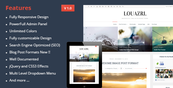 ThemeForest Louazri An Elegant Responsive Blogging Theme 9919183