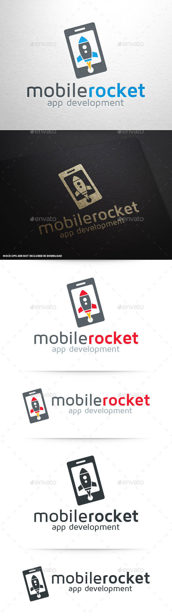 GraphicRiver Mobile Rocket Logo Template 9989928