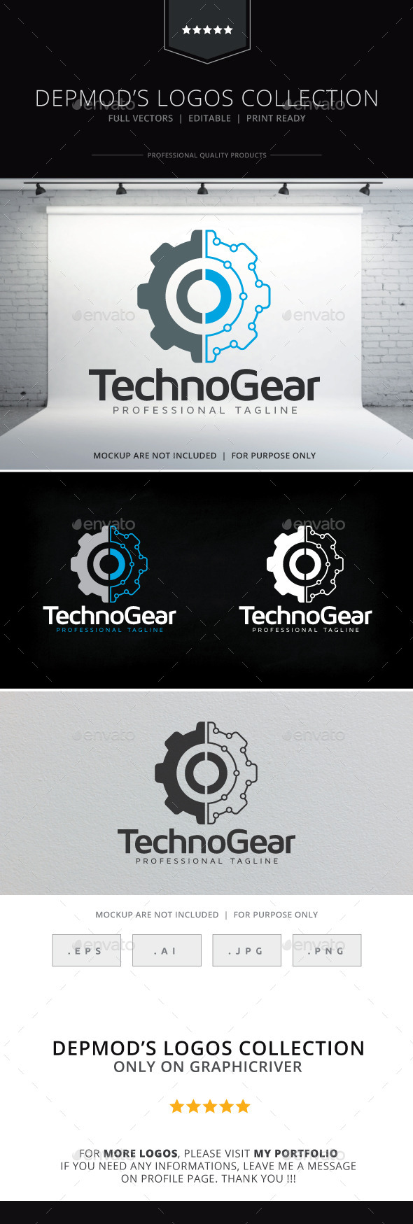 GraphicRiver Techno Gear Logo 9990005