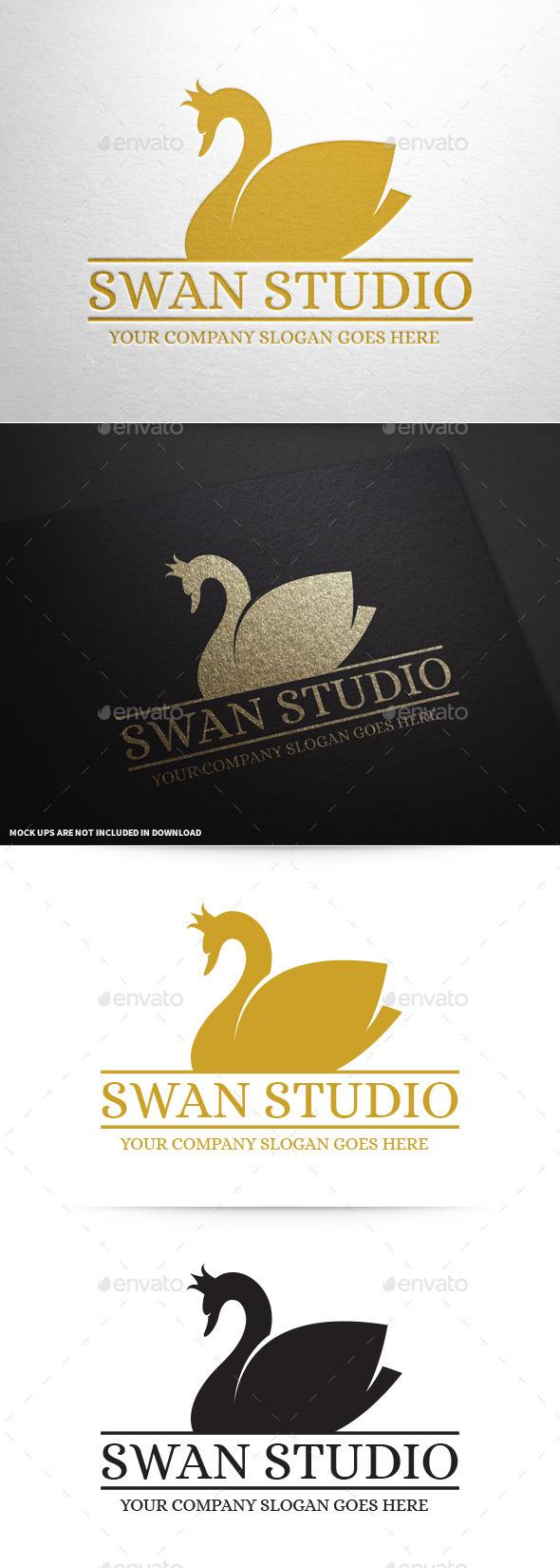 GraphicRiver Swan Studio Logo Template 9990074