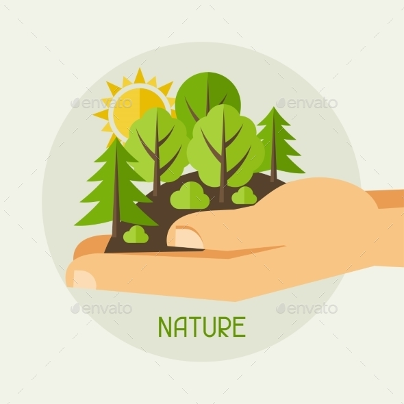 GraphicRiver Ecology Protection Concept 9990376