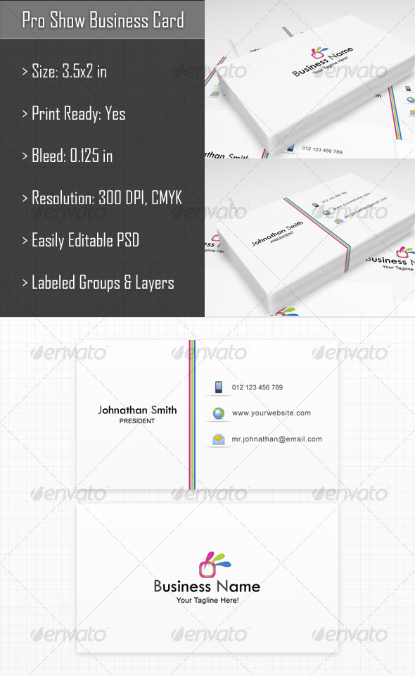 Pro Show Business Card - Corporate Business Cards