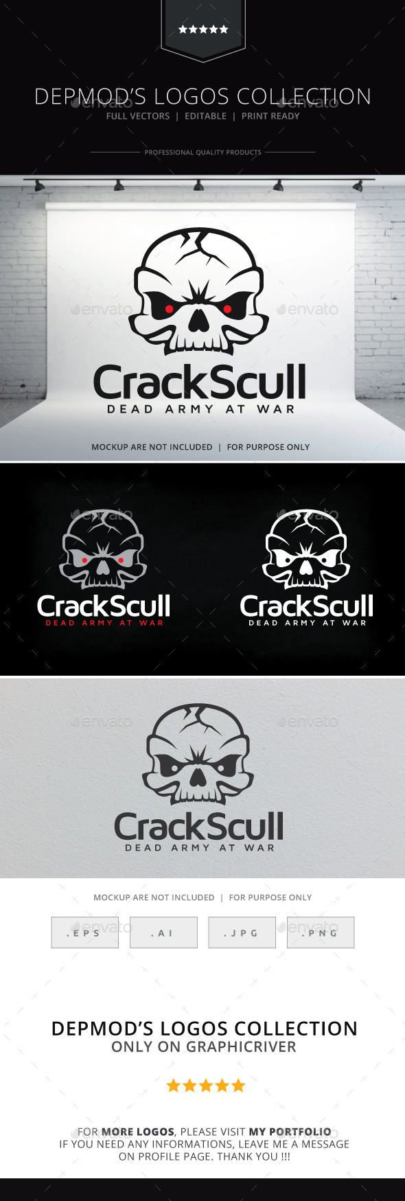 GraphicRiver Crack Skull Logo 9990423