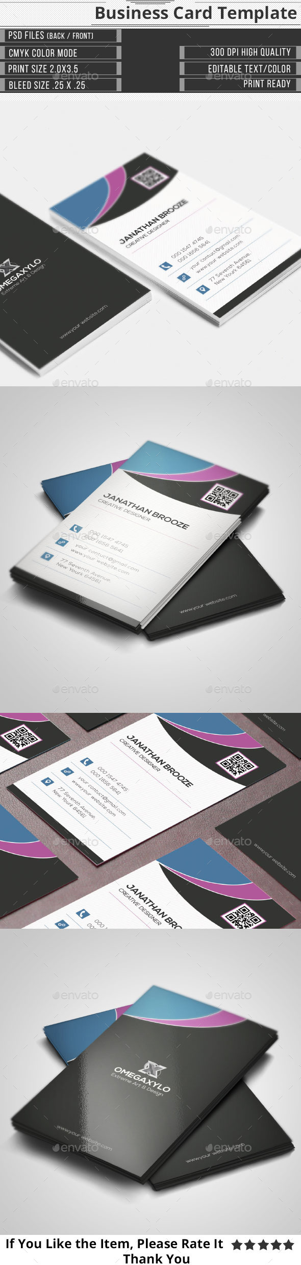 GraphicRiver Simple Creative Corporate Business Card 9990572