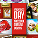 Valentine's Day Facebook Timeline - GraphicRiver Item for Sale