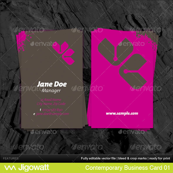 Contemporary Business Card - Creative Business Cards