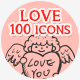 Love Hand Drawn Icons - GraphicRiver Item for Sale