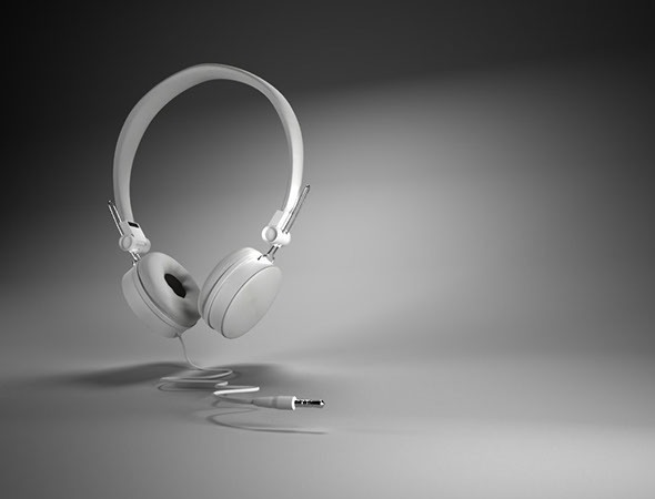 3DOcean Maya 3D White Headset Model 9990776