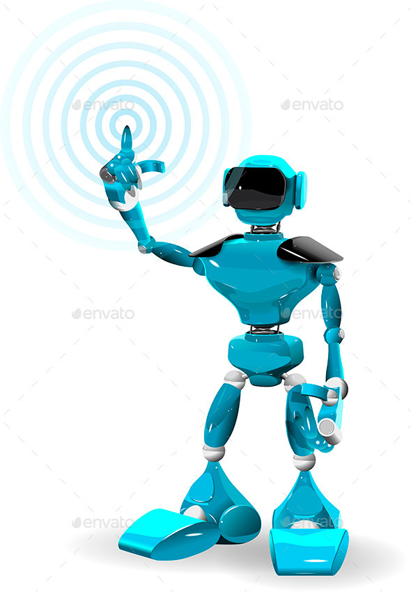 GraphicRiver Blue Robot 9990785