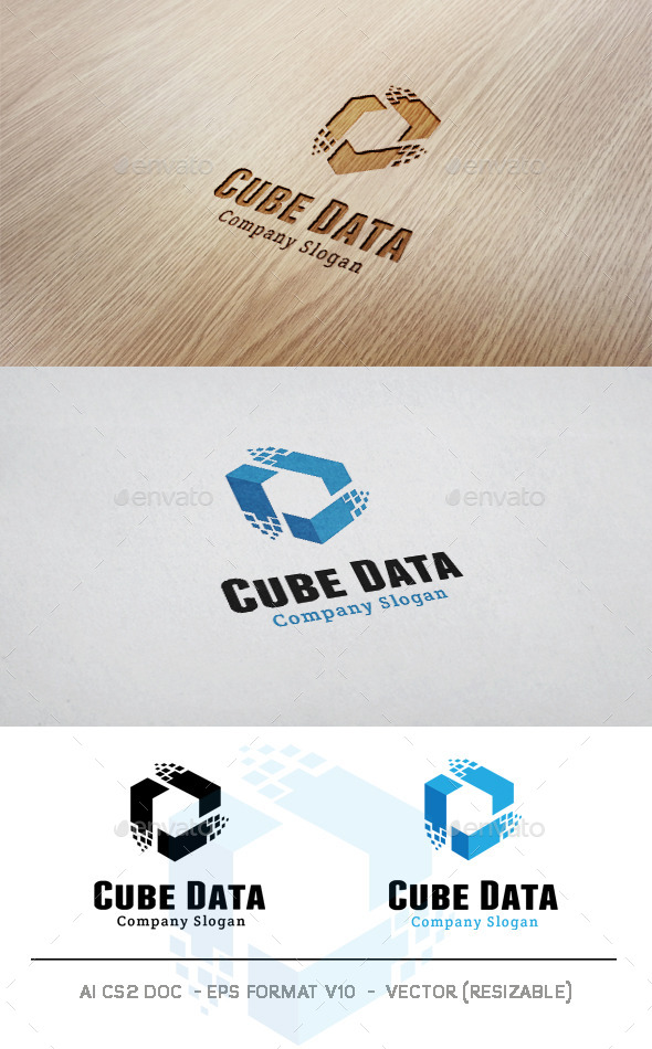 GraphicRiver Cube Data Logo 9990810