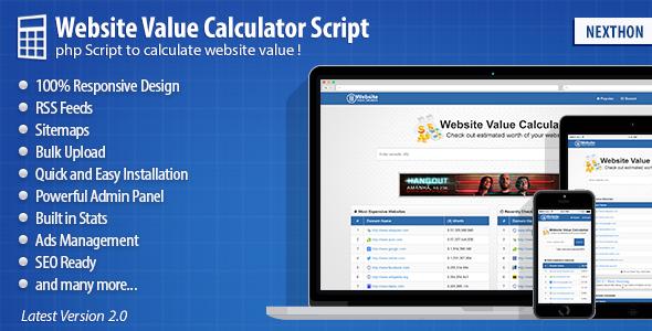 CodeCanyon Website Value Calculator 2.0 9990820