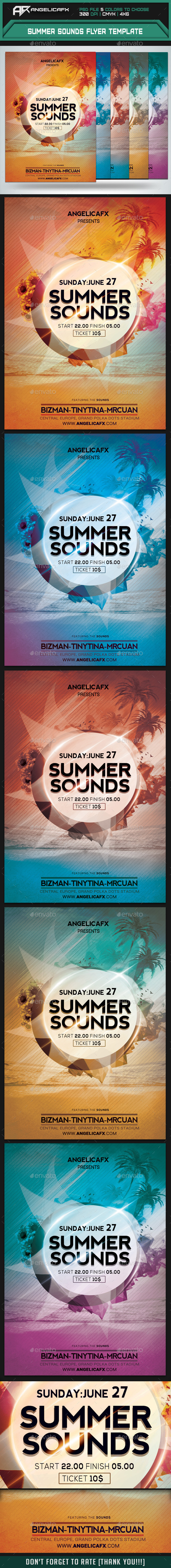 GraphicRiver Summer Sounds Flyer Template 9961886
