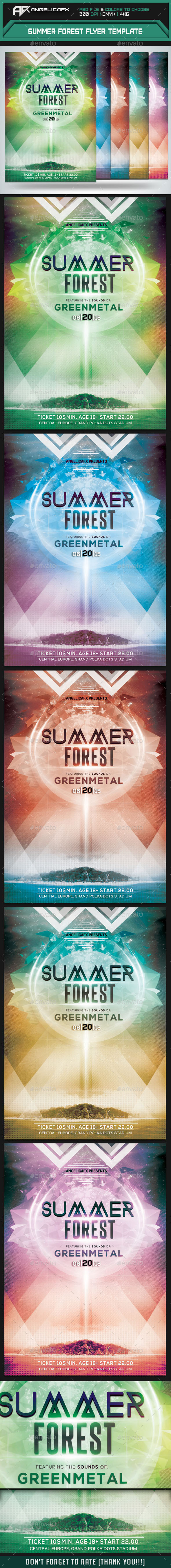 GraphicRiver Summer Forest Flyer Template 9961592