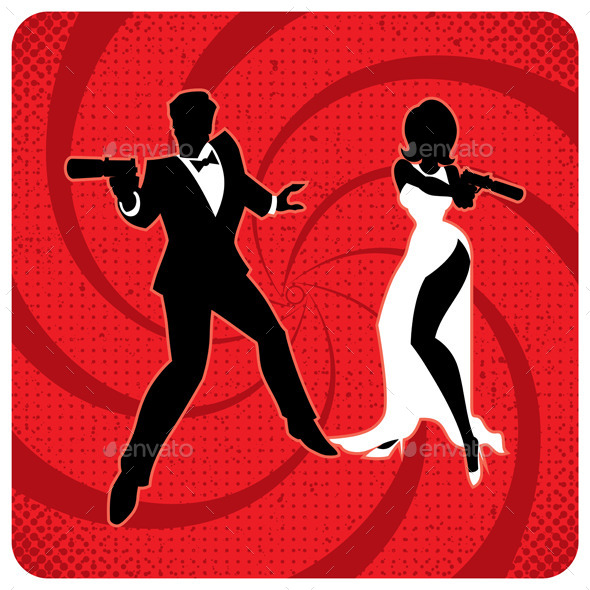 GraphicRiver Spy Couple 2 9991368