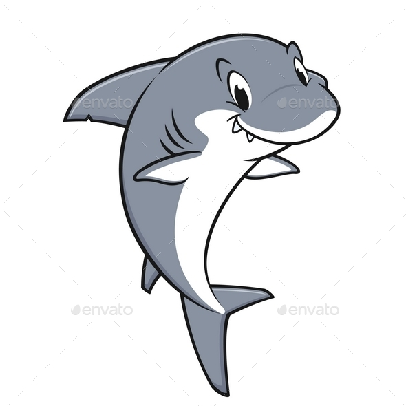 GraphicRiver Cartoon Friendly Shark 9991467