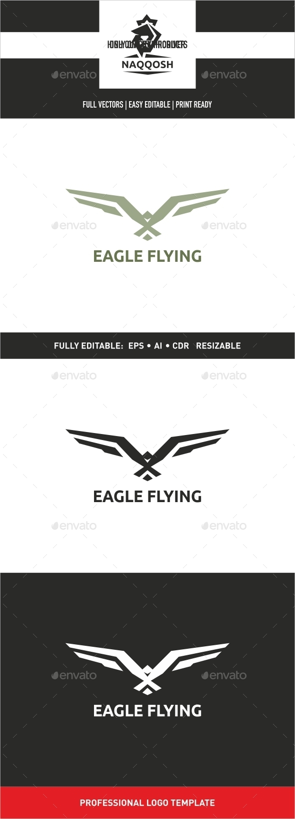 GraphicRiver Eagle Flying 9991639