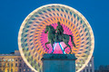 Place Bellecour statue of King Louis XIV by night - PhotoDune Item for Sale