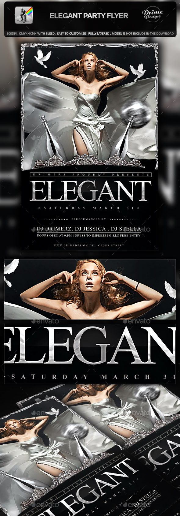 GraphicRiver Elegant Party Flyer 9991737