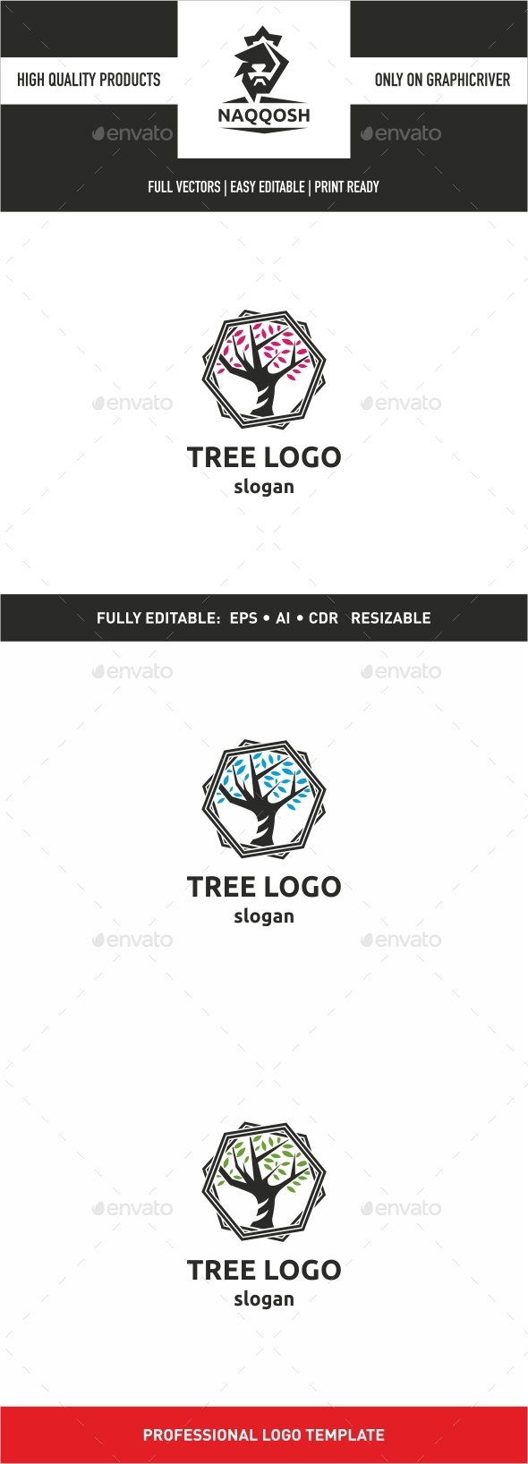 GraphicRiver Tree Logo 9991953