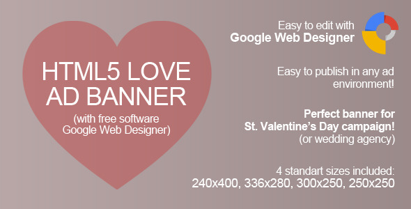 CodeCanyon HTML5 Love Ad Banner 9991960