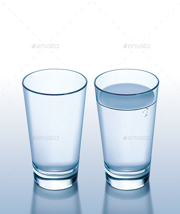 GraphicRiver Glass with Water and Empty 9992006