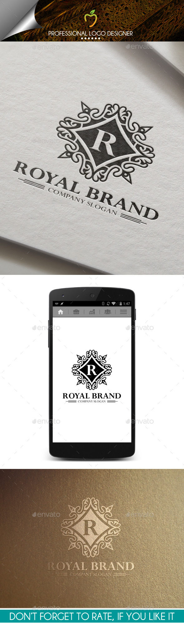 GraphicRiver Royal Brand Crest Logo 9992083