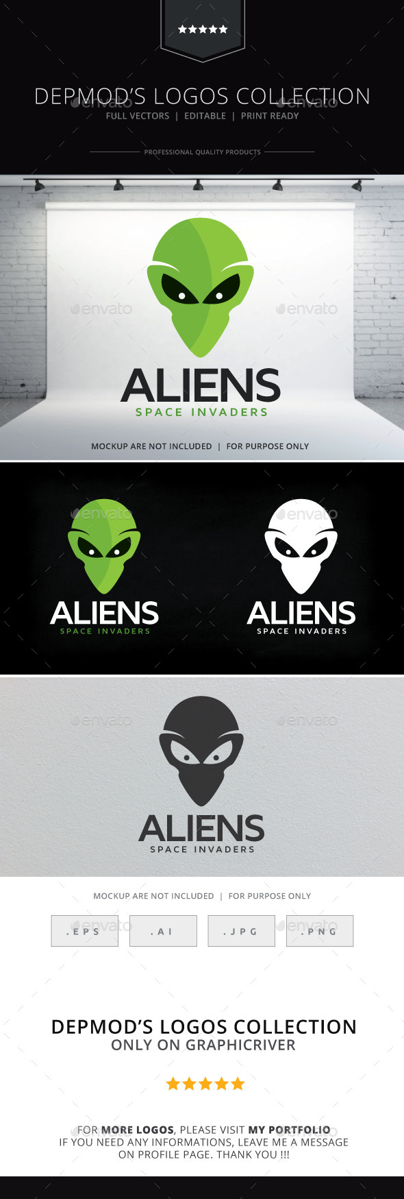 GraphicRiver Aliens Logo 9992142