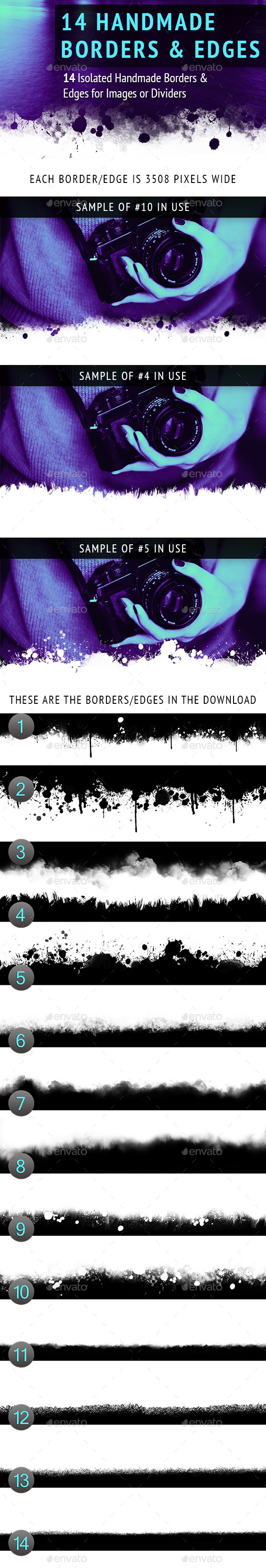 GraphicRiver Handmade Borders and Edges 9992198